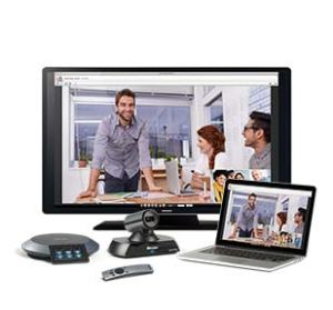 Lifesize Icon Flex with laptop, touchphone, camera and remote
